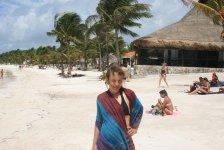 Nawet Ania polubiła plażowanie