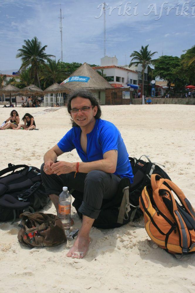 Pierwsze lądowanie na plaży - Playa del Carmen