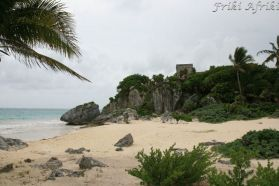 Dawna plaża Majów i zarazem port