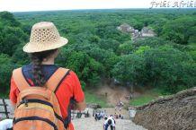 Widok ze szczytu piramidy - Ek' Balam