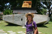 Santa Clara - jeden z bardziej oryginalnych pomników, upamiętniający bitwę o Santa Clara