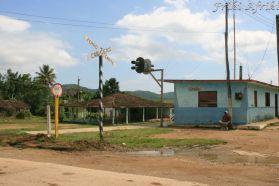 Dworzec w Manaca Iznaga, na który przyjeżdża pociąg parowy