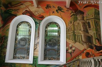 Mural z historią Meksyku w Palacio Municipal