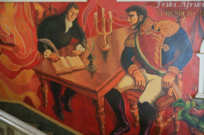 Scena podpisania aktu niepodległości - Palacio Municipal, Cordoba
