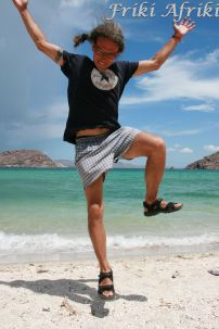Afrikowa radość plażowania