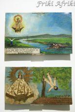 Vota - Frida zebrała sporą kolekcję sztuki ludowej (na obrazkach sytuacje w jakich okolicznościach zostały złożone)