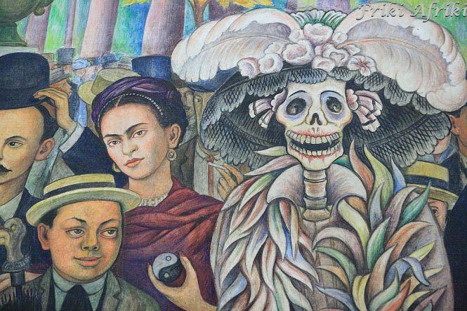 Fragment - Frida, Diego jako chłopiec i La Calavera Catarina