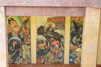 Murale w Palacio del Belles Artes