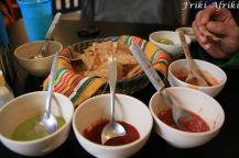 Kilka sosów - wszystkie bardzo pikantne