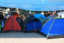 To nie pole biwakowe, tylko protest przeciw reformie szkolnictwa, Oaxaca, Zocalo