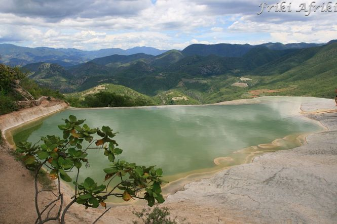 W Hierve el Agua - widok na góry