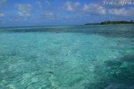 Niesamowite odcienie wody na Glover's Reef