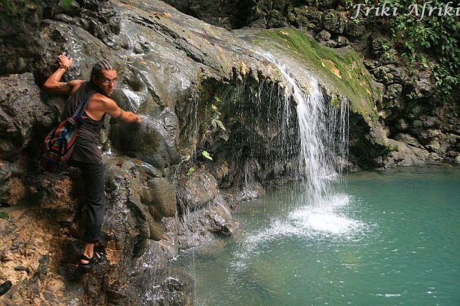 Włażąc na wodospad